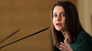 La líder de Ciudadanos en Catalunya, Inés Arrimadas.