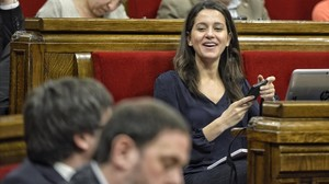 La líder de Ciutadans en el Parlament, Inés Arrimadas, este miércoles durante el pleno.