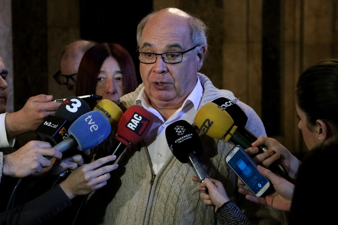 El líder de CSQP en el Parlament, Lluís Rabell.