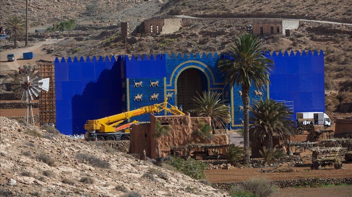 Decorado de 'Los Eternos' en Fuerteventura.