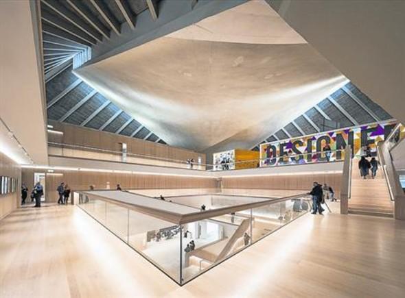 Así ha quedado el Museo del Diseño. La nueva superficie triplica a la anterior: 10.000 metros cuadrados.
