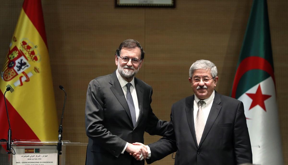 Mariano Rajoy y Ahmed Ouyahia.