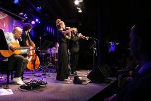 Marina Tuset, durante su actuación en la 38ª edición del Festival de Jazz de Terrassa.