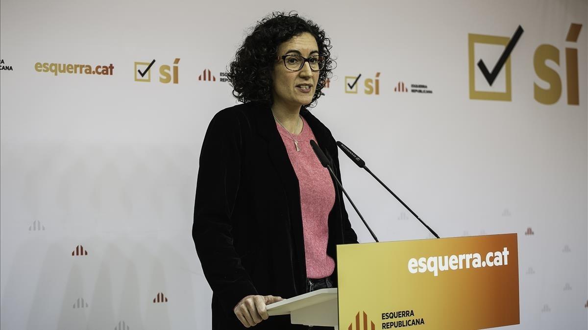 Marta Rovira comparece ante los medios para valorar los resultados de ERC.