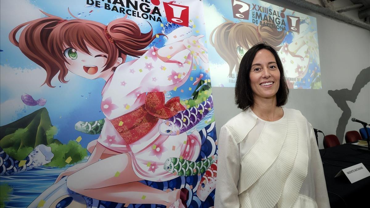 Meritxell Puig, nueva directora de los salones del Manga y del Cómic, este lunes en Barcelona.