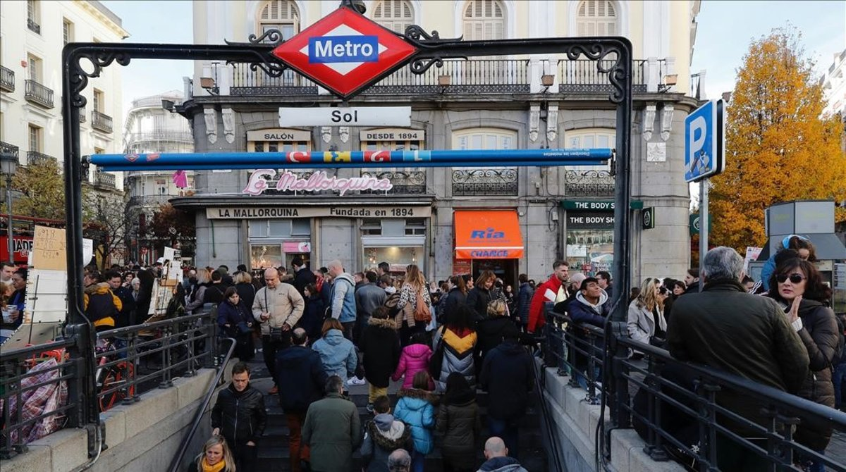 La estación de Sol del Metro de Madrid.