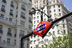 Estación de Metro de Gran Vía en Madrid.