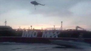 Momento de la captura del petrolero 'Stela Impero' por parte de las fuerzas iranís.