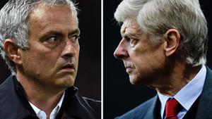 Mourinho y Wenger vuelven a verse las caras este sábado en Old Trafford.