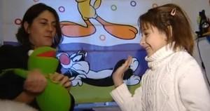 Nadia Nerea y su madre, en una imagen de Espejo Público.
