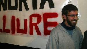 Oleguer, en un acto reivindicativo en el 2007.