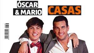 Óscar y Mario Casas, en la portada de Teletodo.