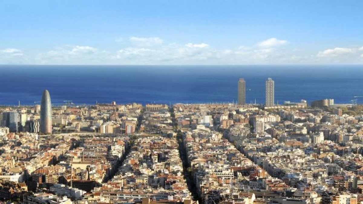 Panorámica de la ciudad de Barcelona.