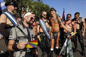 Participantes en la manifestación del Orgullo Gay.