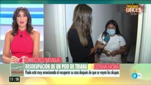 Patricia Pardo hablando con Paola en 'El programa del verano'.