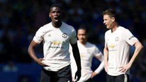Pogba, desesperado con la goleada sufrida ante el Everton.