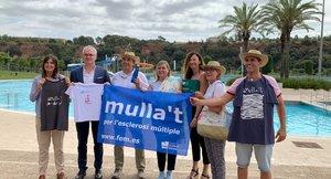 Presentación de la campaña 'Mulla't per l'Esclerosi Múltiple' en Sabadell.
