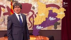 El president de Polònia (Queco Novell) con el terrible mapa (TV-3)