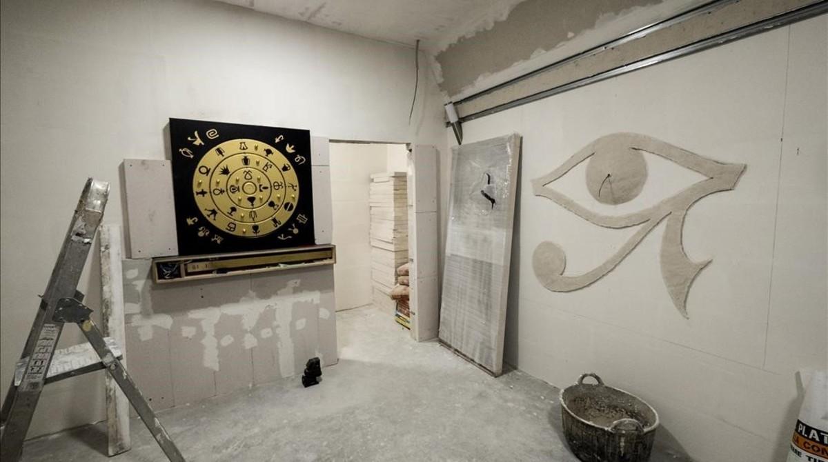 Obras en una de las habitaciones de G. Point que se abrirán en marzo.