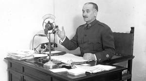 El general Queipo de Llano, estrella de la propaganda de guerra.