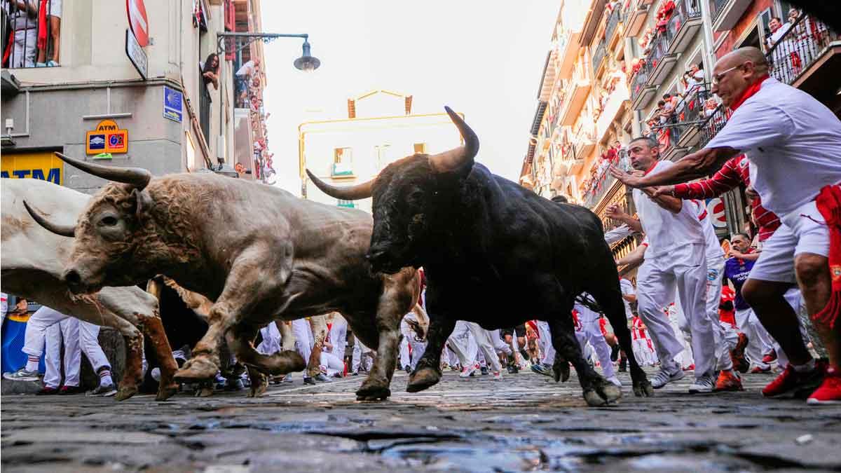 Quinto encierro de San Fermín.