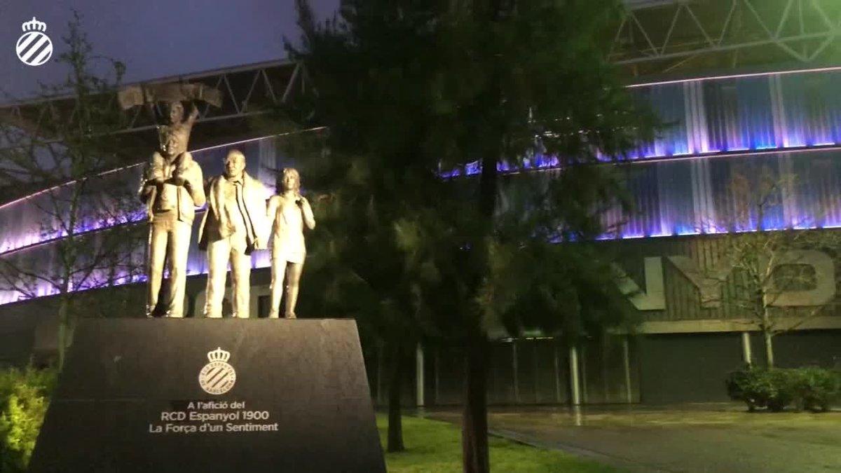 El RCD Espanyol anunció este lunes que iluminará el RCDE Stadium de color blanco en homenaje a los servicios sanitarios que trabajan para frenar la expansión del coronavirus.