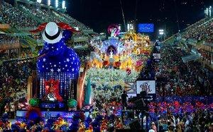 Realización del carnaval carioca hace algunos años