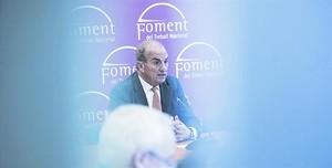 En la recta final 8El presidente de Foment, Joaquim Gay de Montellà, durante una rueda de prensa, el pasado diciembre.