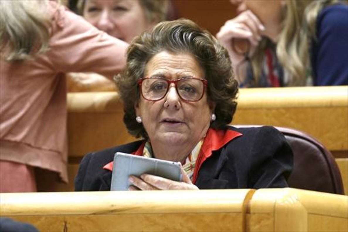 Rita Barberá, exalcaldesa de València y senadora del PP.