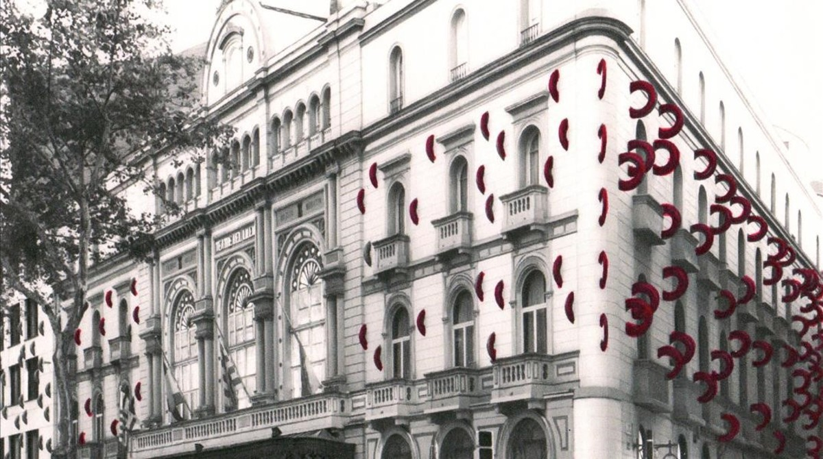 Simulación de la fachada del Liceu según la nueva propuesta de Frederic Amat.