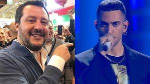 Matteo Salvini y Mahmood.