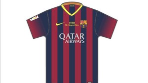 La samarreta que portaran els jugadors del Barça en homenatge a Tito Vilanova.