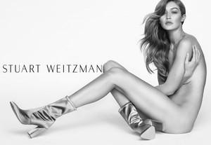 Stuart Weitzman presenta su nueva campaña protagonizada por Gigi Hadid.