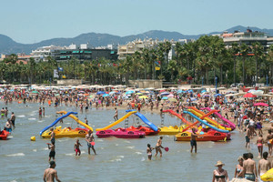 La playa de Levante de Salou.