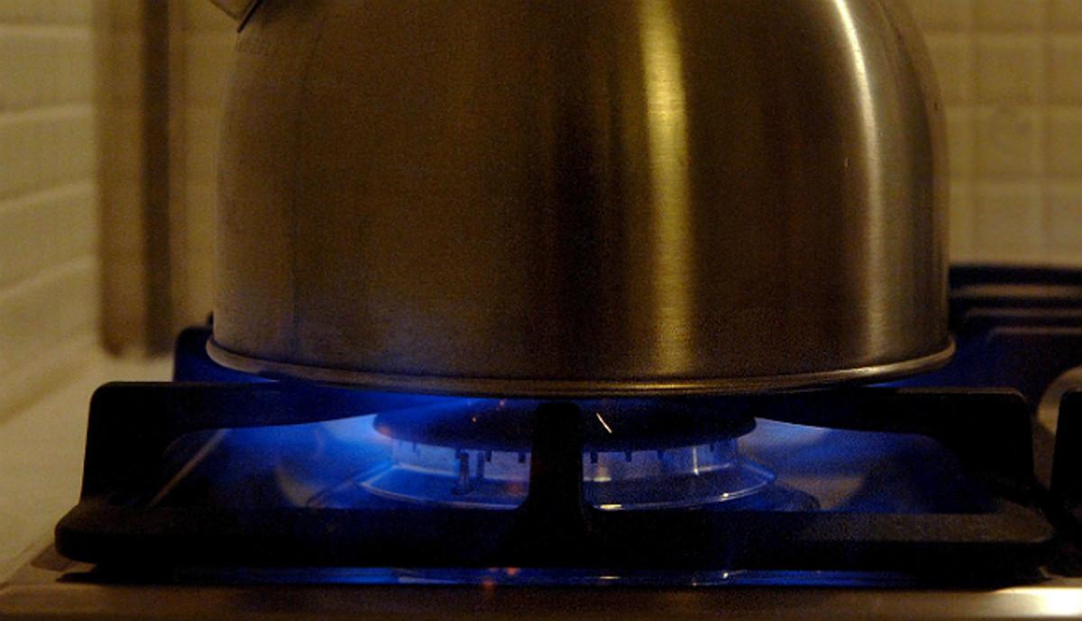 Una cocina a gas.