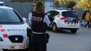 Una patrulla de Mossos dEsquadra.