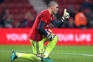 Valdés, en una imagen del 2017, en las filas del Middlesbrough