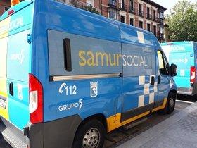 Un vehículo del Samur Social de Madrid.