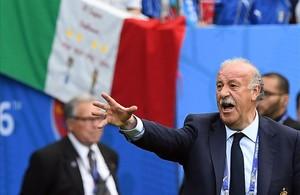 Vicente del Bosque, durante el partido contra Italia de la Eurocopa pasada.