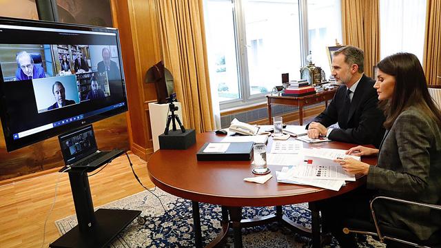 Videoconferencia de los Reyes con el Foro de Marcas Renombradas.