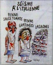 La viñeta de Charlie Hebdo sobre el terremoto de Italia.
