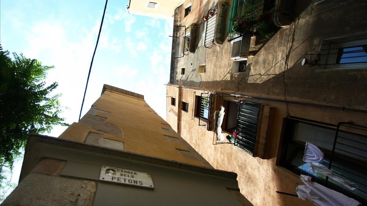 Calle de los Petons, donde ocurrieron los hechos.