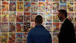 Exposición sobre Mortadelo y Filemón y otros personajes creados por Francisco Ibáñez, en el 2014.