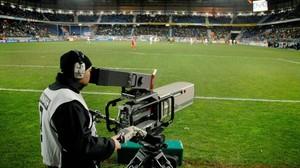 Retransmisión de un partido de la Liga Santander.