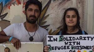 Vaga de fam a Lesbos