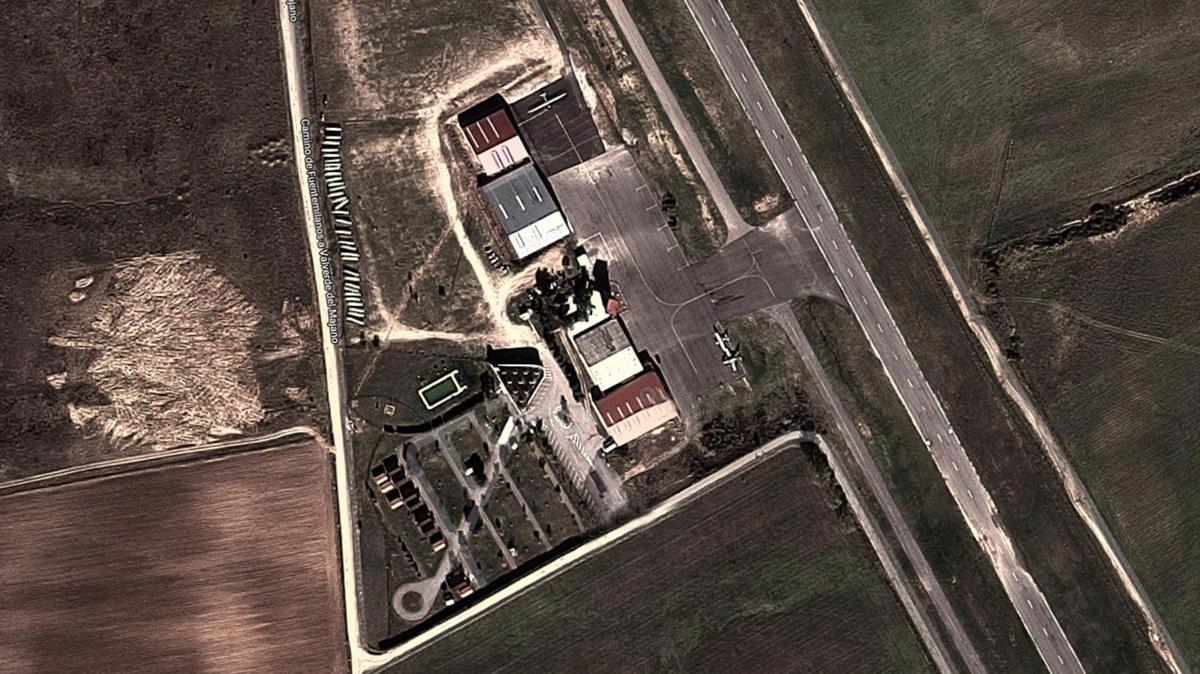 El aeródromo de Fuentemilanos, en Segovia.