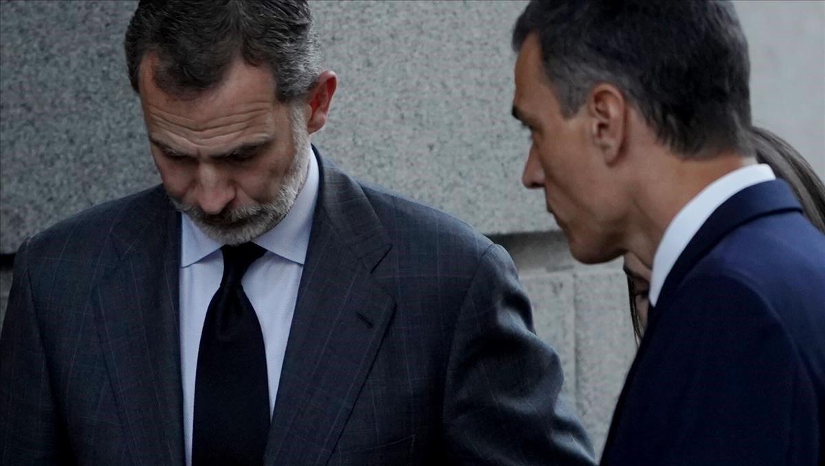 El Rey Felipe a su llegada al Congreso de los Diputados.
