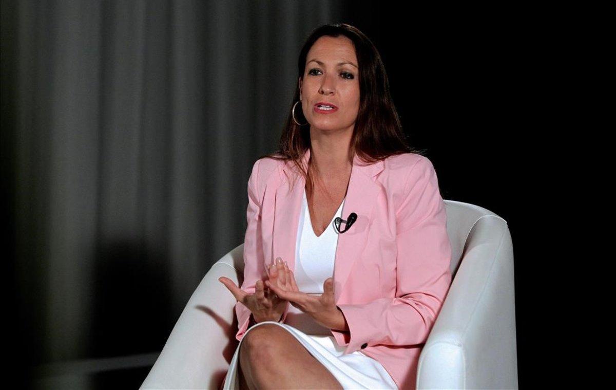 Maria Eugència Gay en un momento de la entrevista.