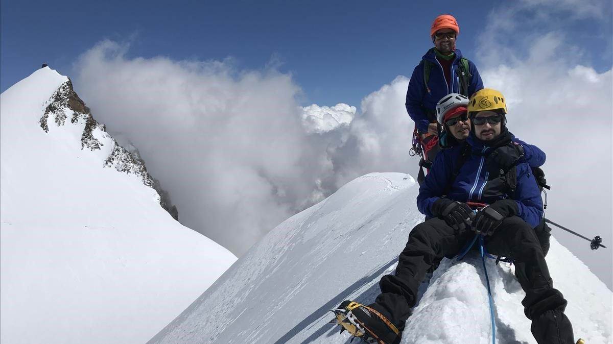 Javier García Pajaresen los Alpes.