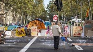 La Barcelona acampada
